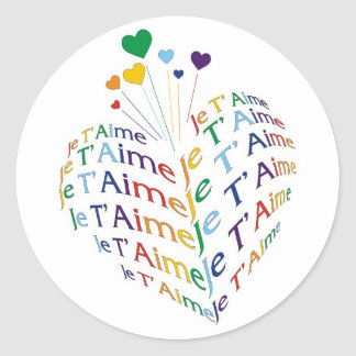 """Say, """"I Love You"""" in French / Sticker (small size)"""