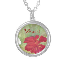Say I love you in Mandarin: Wo ai ni Silver Plated Necklace at Zazzle