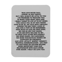 SAY IT AS IT IS LOVE QUOTES RELATIONSHIPS TRYING C RECTANGLE MAGNETS