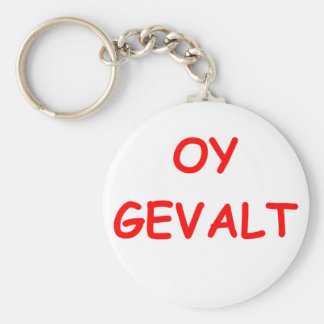 say it in yiddish basic round button keychain