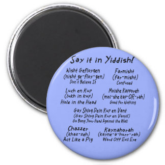 Say it in Yiddish Blue Magnet