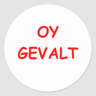 say it in yiddish classic round sticker