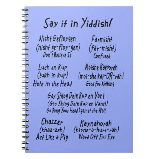 Say It In Yiddish Notebook