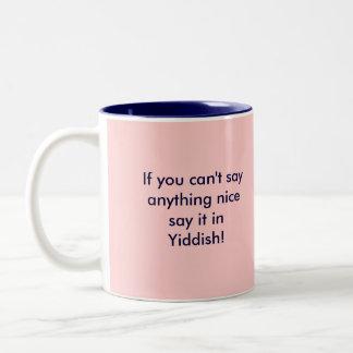 Say it in Yiddish Two-Tone Coffee Mug