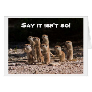 SAY IT ISN'T SO, YOU ARE HOW OLD PRAIRIE DOGS ASK CARD