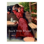 Say It With A Kiss! - Postcard