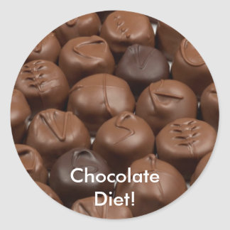 Say it with Chocolate! Classic Round Sticker