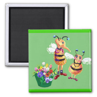 Say it with flowers 2 inch square magnet