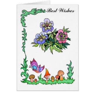 Say it with flowers,Pastel pansies Card