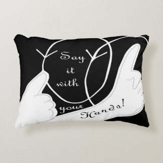 Say It With Your Hands Accent Pillow
