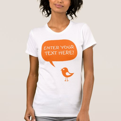 say it with your words,cute chick orange Shirt
