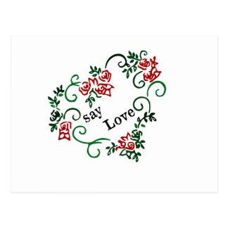 say Love Postcard