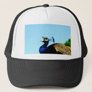 Say love to you pavo cristatus peacock trucker hat