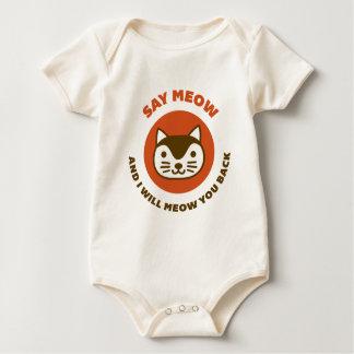 Say Meow Baby Bodysuit