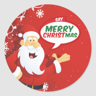 Say Merry Christmas From Santa Stickers