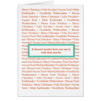 Say Merry Christmas! Stationery Note Card