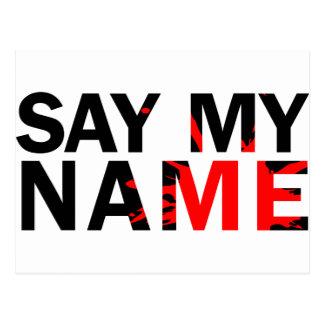 Say My Name Postcard