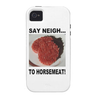 Say neigh to horse meat étui iPhone 4/4S