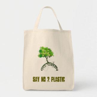 SAY NO 2 PLASTIC TOTE BAG