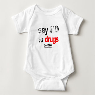 "Say ""No"" Baby Bodysuit"
