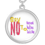 Say No Bullies Message Necklace