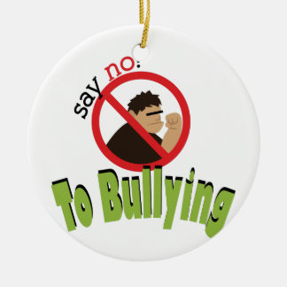 Say No Bullying Double-Sided Ceramic Round Christmas Ornament