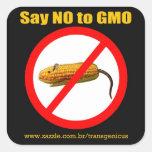 """Say NO GMO Stiker 3""""x3"""" Pegatina Cuadrada"""