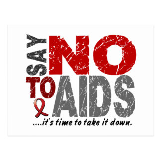 Say NO To AIDS 1 Postcard