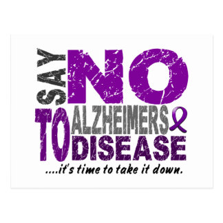 Say NO To Alzheimers Disease 1 Postcard