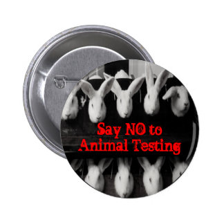 "Say No to Animal Testing 2 1/4"" button pin"