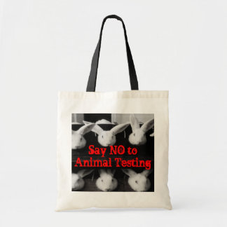 """Say NO to Animal Testing"" Mini Tote Bag"
