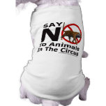 Say No To Animals in The Circus Pet Wear Pet Clothes