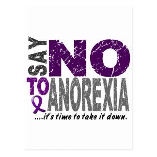 Say NO To Anorexia 1 Postcard