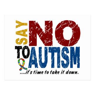Say NO To Autism 1 Postcard