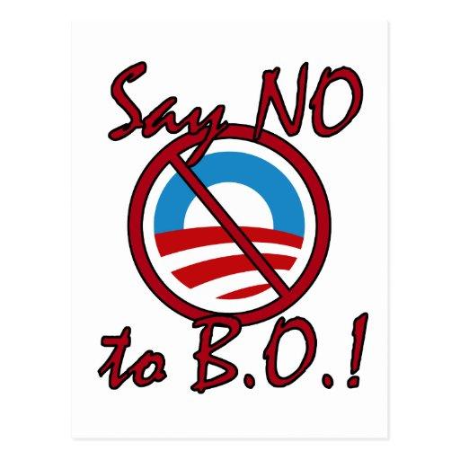 Say NO to B.O. Postcard