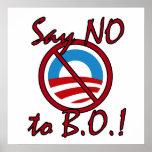 Say NO to B.O. Poster