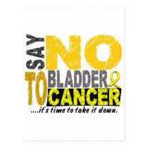 Say NO To Bladder Cancer 1 Postcard
