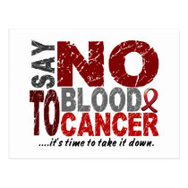 Say NO To Blood Cancer 1 Postcard