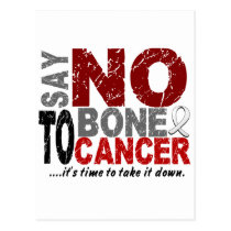 Say NO To Bone Cancer 1 Postcard