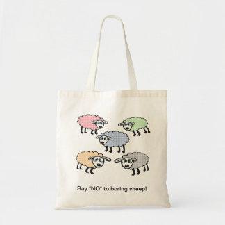"""Say """"NO"""" to boring sheep bag. Tote Bag"""