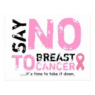 say no to breast cancer post card