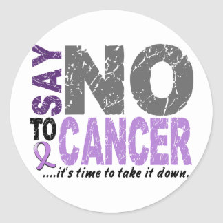 Say NO To Cancer 1 Classic Round Sticker