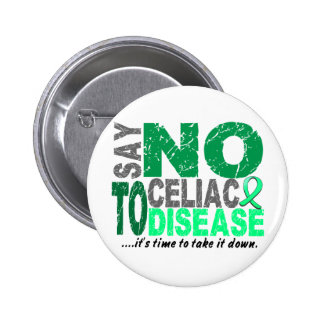 Say NO To Celiac Disease 1 Buttons