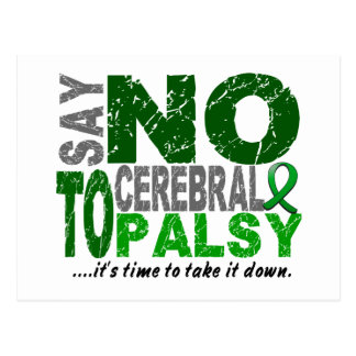 Say NO To Cerebral Palsy 1 Postcard