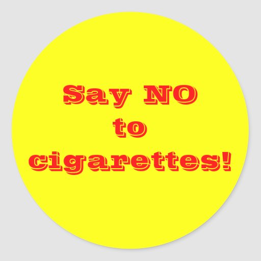 say no to cigarettes essay There have been multiple court cases against tobacco companies for having researched the health effects of tobacco, but having then suppressed the findings or formatted them to imply lessened or no hazard.