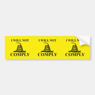 Say NO to Communism! Car Bumper Sticker