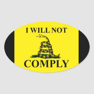 Say NO to Communism! Oval Sticker