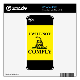 Say NO to Communism! Skin For iPhone 4S