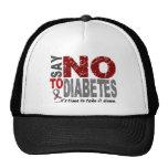 Say NO To Diabetes 1 Hats