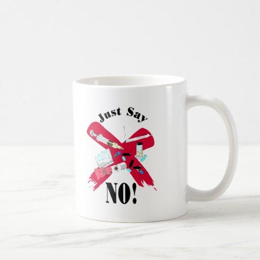 Say No to Drugs Classic White Coffee Mug